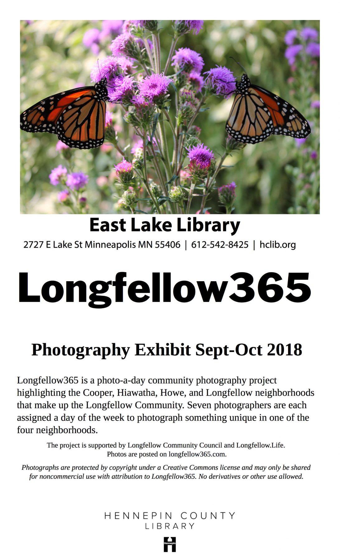 Longfellow365 East Lake Library exhibit poster
