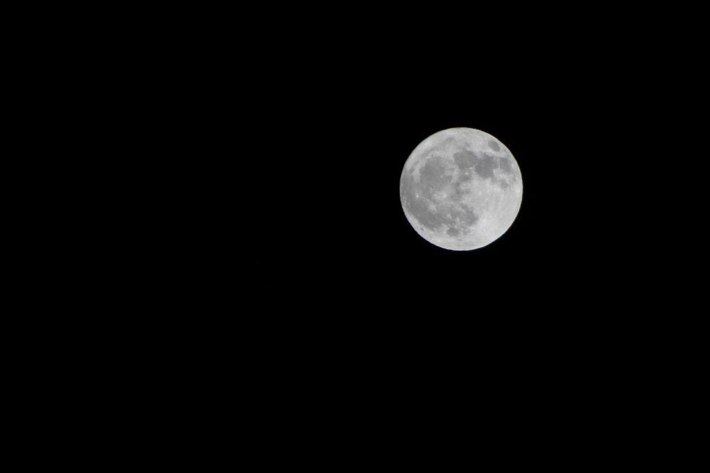 full moon against black sky